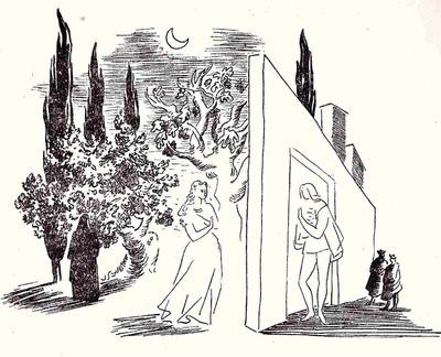 Ilustración primera del acto XII de la edición de México (1947)