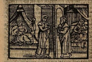 Ilustración del acto XVI de la edición de Amberes (1616)