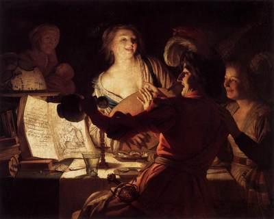 Alegre compañía, de Honthorst (1623)