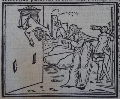 Ilustración segunda del acto 20 de la edición de Lisboa (1540)