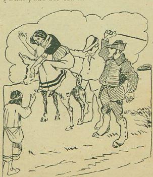 Alcahueta castigada públicamente, revista Fray Verdades, (1909)
