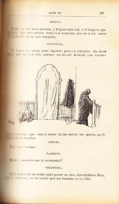 Ilustración segunda del acto VII de la edición de Barcelona (1883)