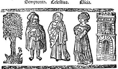 Ilustración del acto III de la edición de Valencia (1529)