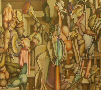 Alcahuetas, buscones y buscavidas (interior holandés), de Muriel (2008)