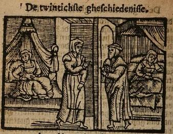 Ilustración el act XX de la edición de Amberes (1616)