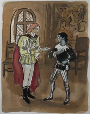 Ilustración segunda del acto I de la edición de París, 1976