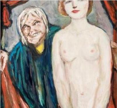Chica con una proxeneta, de Degner (1942 c.)