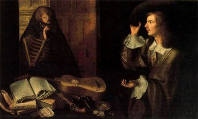 El caballero y la muerte, de Camprobín (1670 c.)