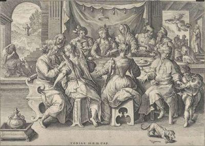 Retorno de Tobias, de van de Passe (1584 c.)