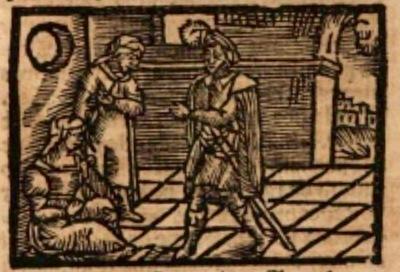 Ilustración del acto XVIII de la edición de Estella (1557)