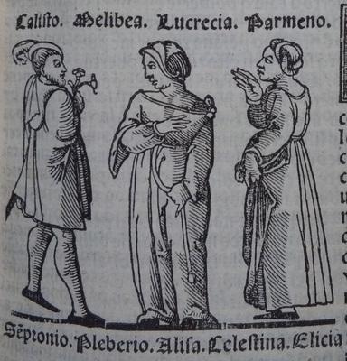 Ilustración pimera del acto 12 de la edición de Lisboa (1540)<br /> <br />