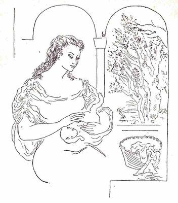 Ilustración primera del acto X de la edición de México (1947)