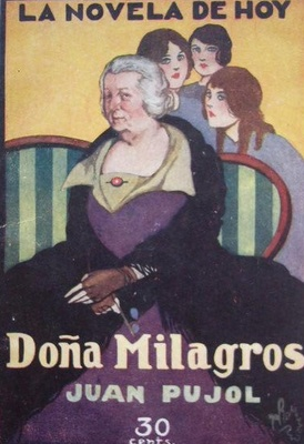 Doña Milagros, portada de La novela de hoy (1925 c.)
