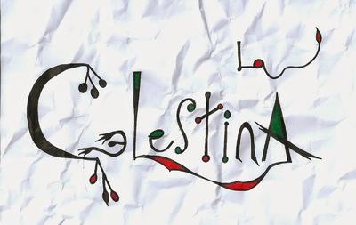 Caligrafía del título La Celestina, 2014