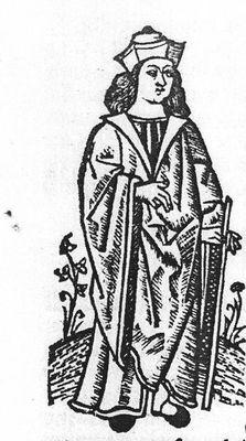 """Grabadode la edición de Valencia 1518 que ilustra """"Concluye el autor"""""""