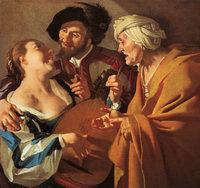 De koppelaarster (la acahueta), de Baburen (1622)