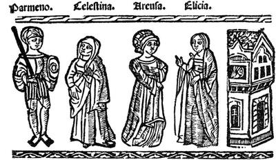 Ilustración del acto VII de la edición de Valencia (1529)