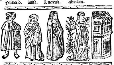 Ilustración del acto XVI de la edición de Valencia (1529)