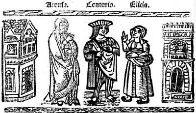 Ilustración del acto XV de la edición de Valencia (1529)