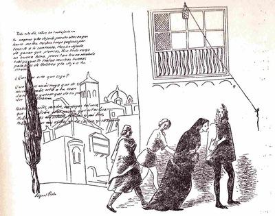 Ilustración primera del acto XI de la edición de México (1947)