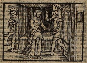 Ilustración del acto XVII de la edición de Amberes (1616)