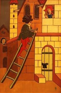 Conquista, pintura de Blanco Prieto (2000 c.)