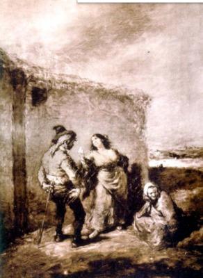 La disputa, de Lameyer (1850 c.)