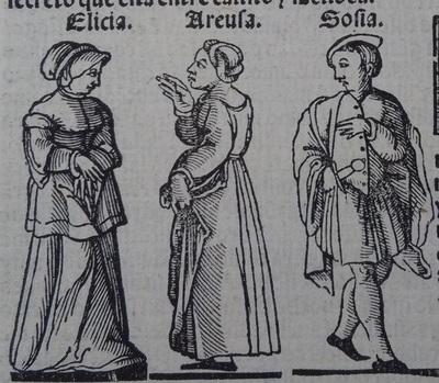 Ilustración del acto 17 de la edición de Lisboa (1540)