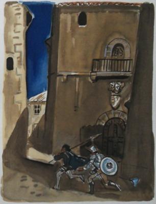Ilustración segunda del acto XII de la edición de París, 1976