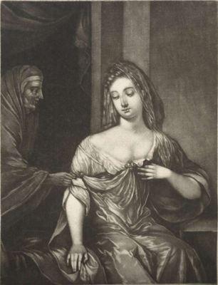 Una joven recibe una carta de una alcahueta, de Schenck (1690 c.)