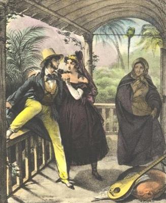 La proxeneta, de Debret (1834 c.)
