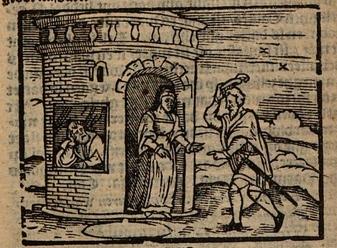Ilustración primera del acto XIII de la edición de Amberes (1616)