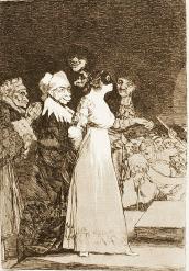 El sí pronunican y la mano alargan al primero que llega, de Goya (1797)