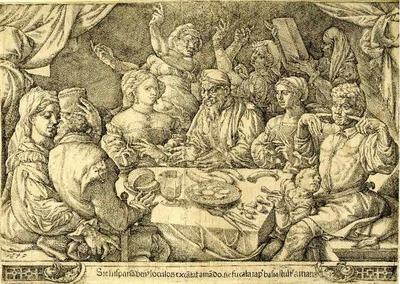 Grabado hecho por Cornelisz (1545)
