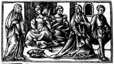 Ilustración del acto IV de la edición de Zaragoza (1545)