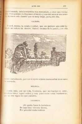 Ilustración primera del acto XIX de la edición de Barcelona (1883)