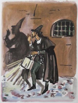 Ilustración primera del acto XII (?) de la edición de París, 1976