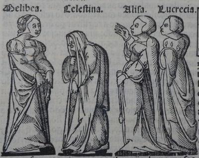 Ilustración del acto 10 de la edición de Lisboa (1540)