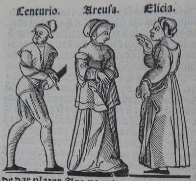 Ilustración del acto 18 de la edición de Lisboa (1540)
