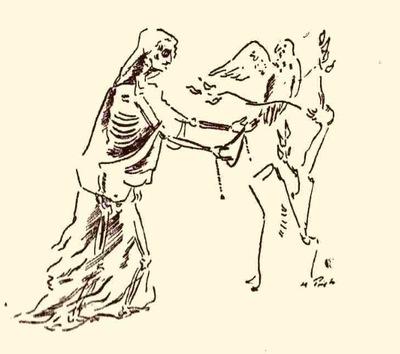 Ilustración tercera del acto VI de la edición de México (1947)