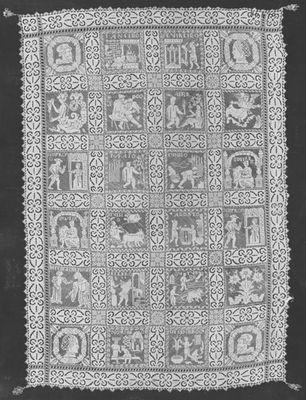 Cobertor o cubrecama con escenas de La Celestina (1615)