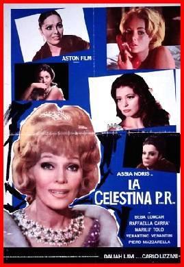 Cartel anunciador de la película italiana Celestina P.R, 1965.