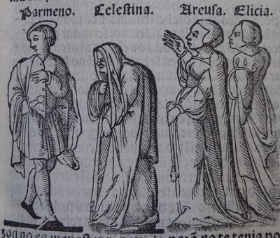 Ilustración del acto 7 de la edición de Lisboa (1540)