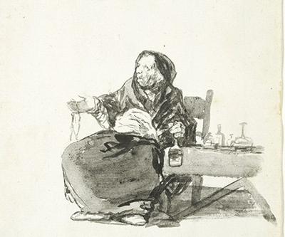 La madre Celestina, de Goya (1819)
