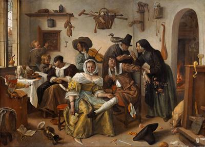 Cuidado con el lujo, de Steen (1663)