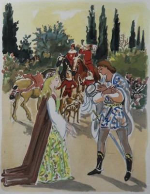 Ilustración primera del Acto I de la edición de París, 1976