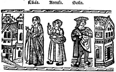 Ilustración del acto XVII de la edición de Valencia (1529)