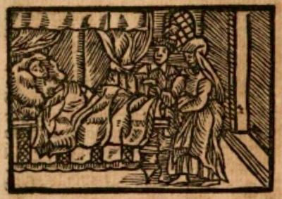 Ilustración del acto XVII de la edición de Estella (1557)