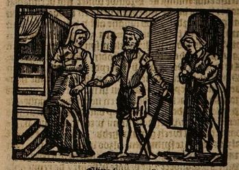 Ilustración del acto XVIII de la edición de Amberes (1616)