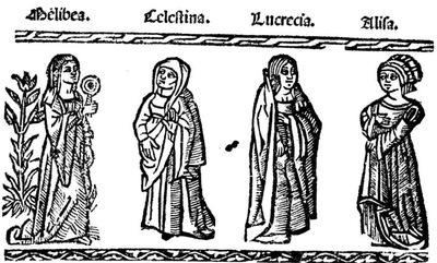 Ilustración del acto X de la edición de Valencia (1529)